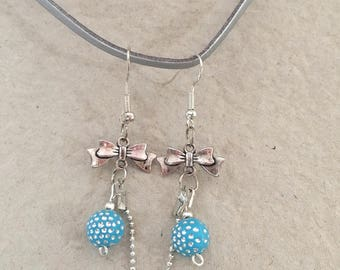 fancy turquoise bead earrings