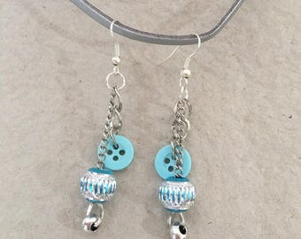 Fancy turquoise and Silver earrings