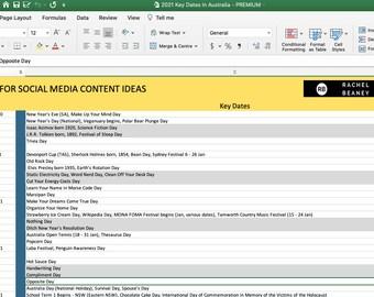 2021 Key Dates Calendar For Social Media Content Ideas