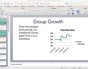 Facebook Groups Report Powerpoint Template