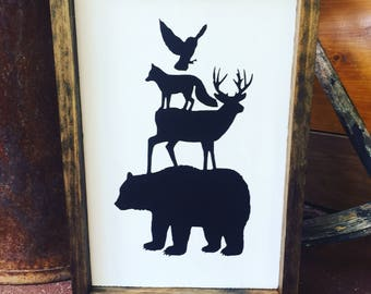 Up North Sign, Rustic Sign, Cabin Sign, Backwoods