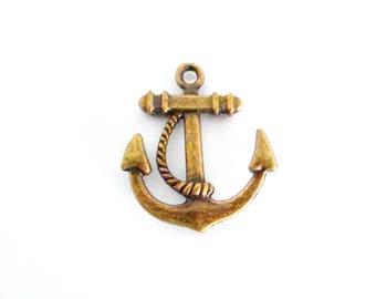 X 1 anchor Navy brass 22 mm x 20 mm