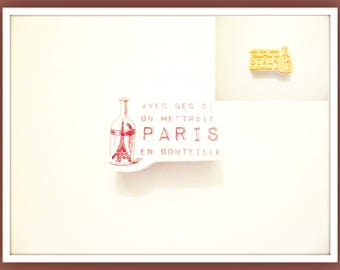 "x 1 stamp foam Expression of yesteryear ""If you would put PARIS bottle"" Scrapbooking"
