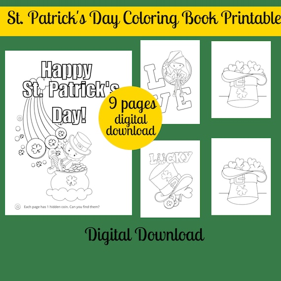 St. Patrick's Day Coloring Pages Printable St