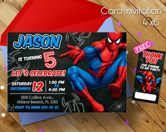 Spiderman Invitation Superhero Birthday Party Invitations Amazing