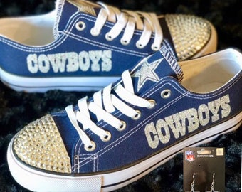 Dallas Cowboys Shoes w Free pair of Dallas Cowboys earrings 46c4ae497