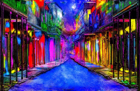 8x10 French Quarter color print
