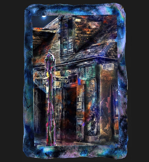 "Blacksmith Bar 19""x28"""" done on metal using photographic prof paper and clear resin. Larger size available"