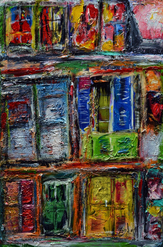 "Open Window. Original  piece painted on canvas 24""x36"" aclyric paint signed and dated"