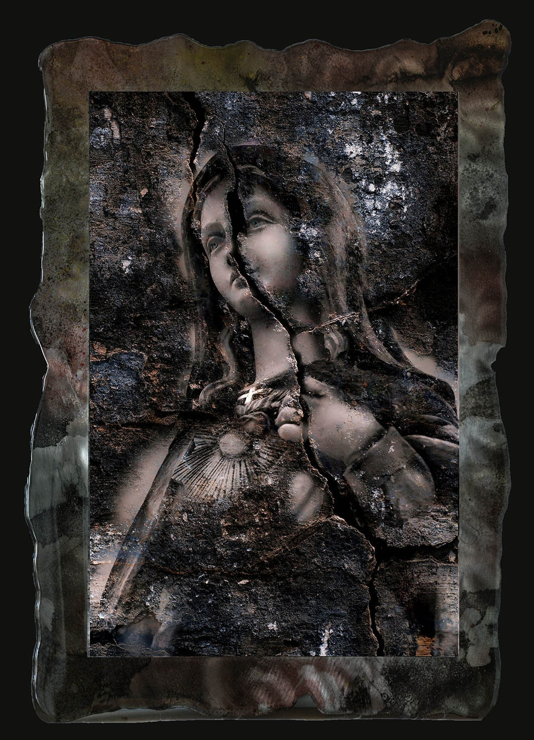 18x27 Vivid Framed Digital Art Photo Of Madonna On Metal Plate With Resin Clear Coat Smaller Larger Sizes Available