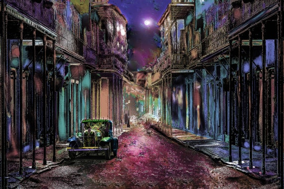 8x10 French Quarter semi color print