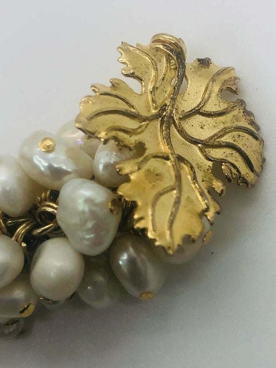 Vintage Grape Faux Pearl Earrings - image 2