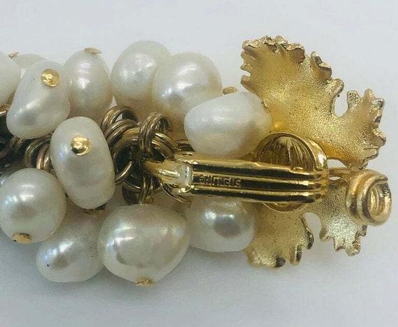 Vintage Grape Faux Pearl Earrings - image 6