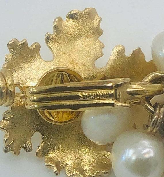 Vintage Grape Faux Pearl Earrings - image 7