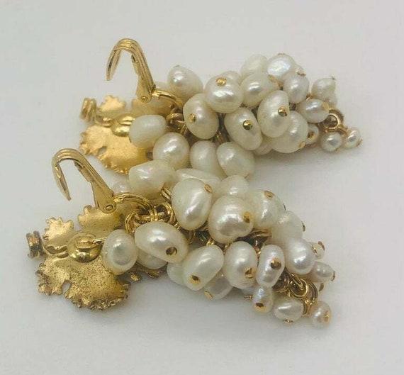 Vintage Grape Faux Pearl Earrings - image 8