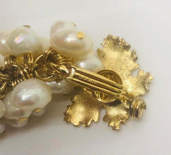 Vintage Grape Faux Pearl Earrings - image 5