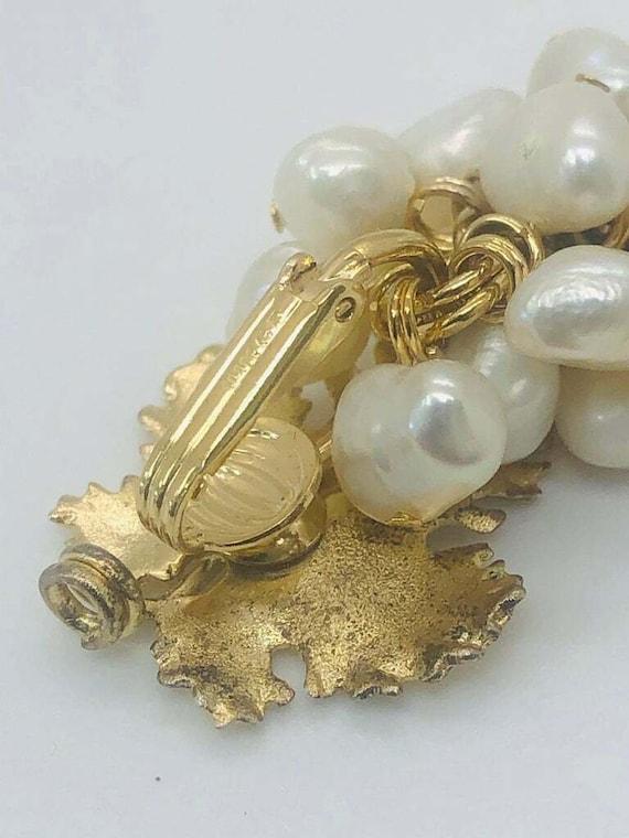 Vintage Grape Faux Pearl Earrings - image 10