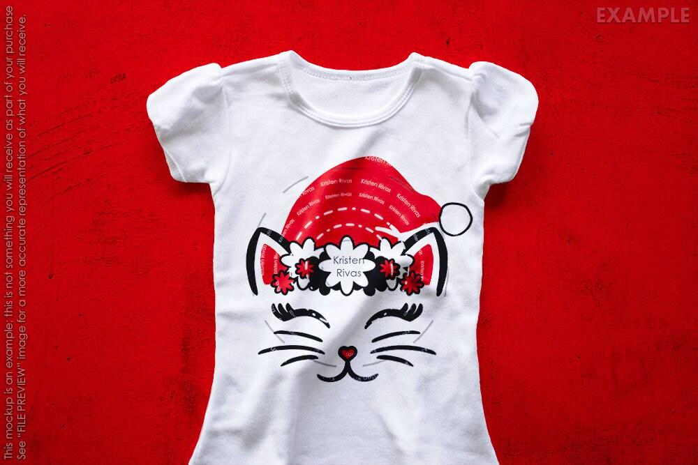 0202f9d816d38 Santa Cat SVG Santa Hat Cat SVG Santa svg Christmas Cat