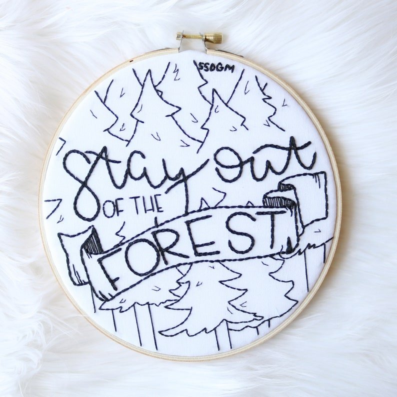 Custom MFM Themed Hoop  Hand Stitched Embroidery Hoop  Hand image 0