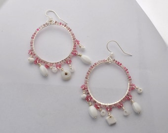 Shell Pink Hoops