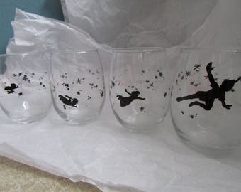 Custom painted Wine glasses