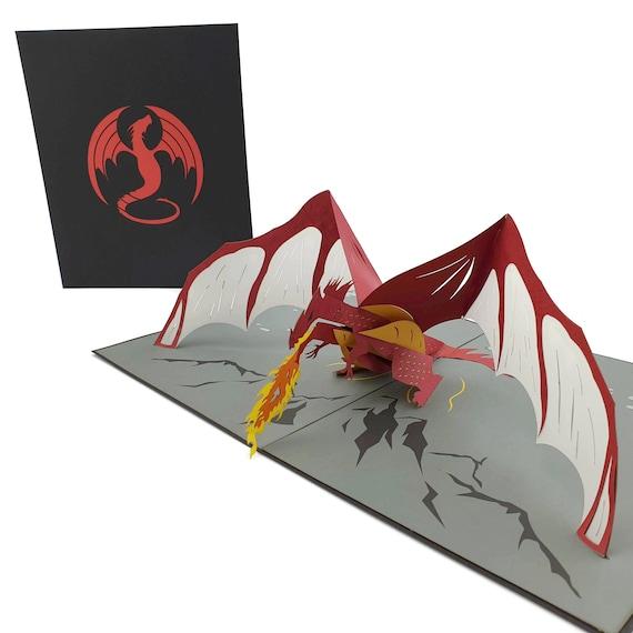 Black Dragon 3d pop up card