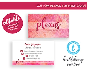 Plexus business cards etsy plexus business cards template plexus ambassador 35x2 easy edits digital download in minutes reheart Image collections