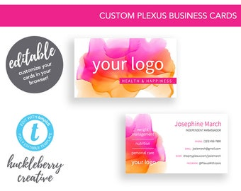Plexus Business Cards Template Ambassador 35x2 Easy Edits Digital Download In Minutes