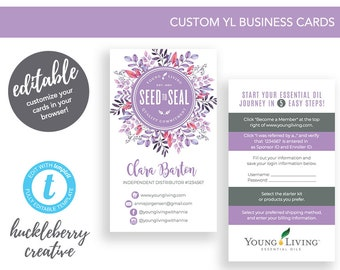 Young living cards etsy young living business cards young living essential oils 35x2 easy edits colourmoves