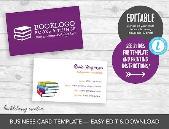 Usborne Books & More Business Card Template Usborne Etsy