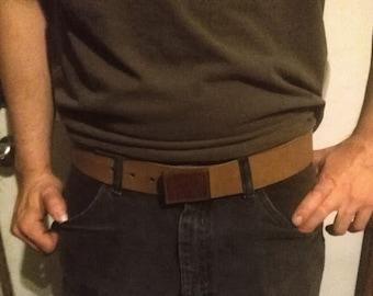 Belt, Leather, No Metal Buckle, Musician, Mechanic, Personalized, Custom