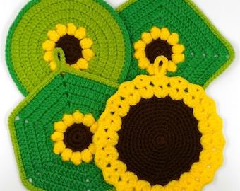 Stock of 4 crochet pot holders