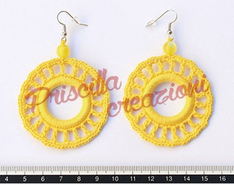 Handcrafted crocheted earrings