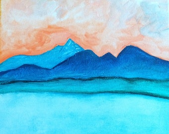 Tranquility--Original Painting by Elizabeth Anne Rightor