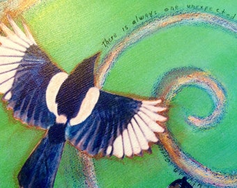 The Spiral Goes In Reproduction of Original Mixed Media Painting by Elizabeth Ann Rightor