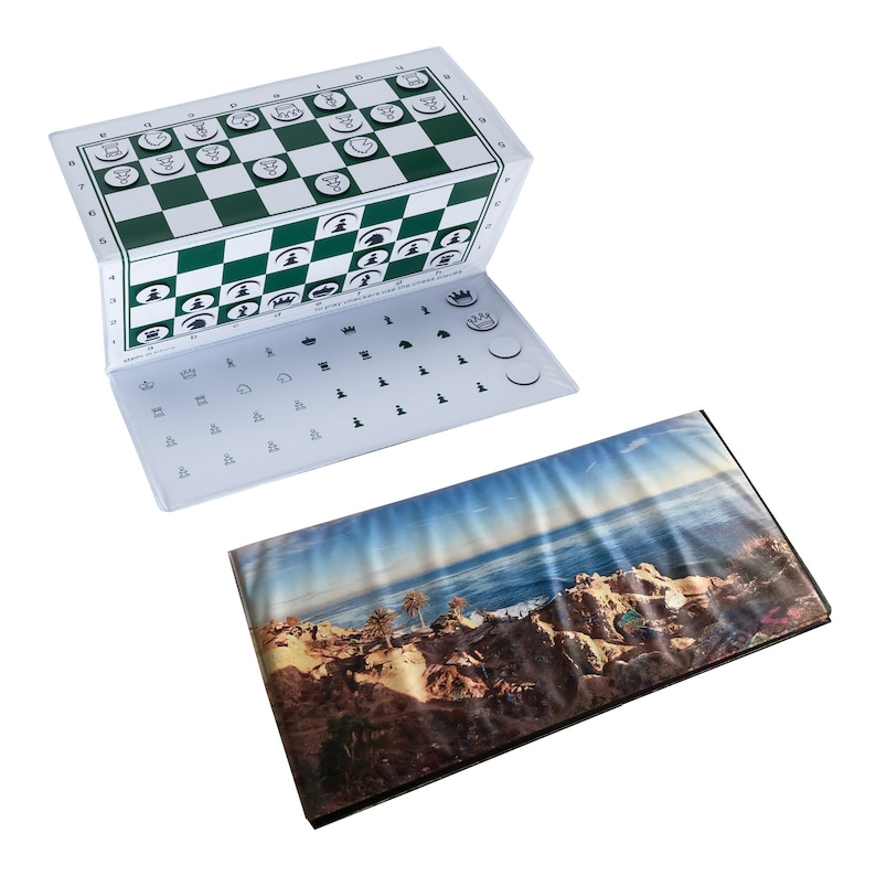 Personalized Travel Checkbook Magnetic Chess Set