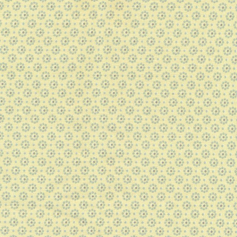Yellow oilcloth gray printed pattern flowers for making image 0