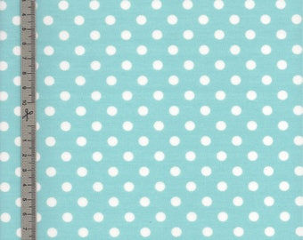 Blue coated cotton fabric handmade glacier white peas for your sewing work