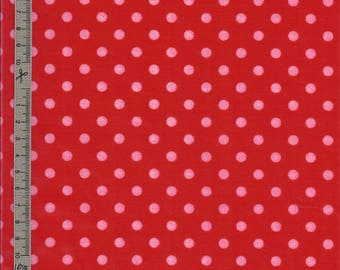 Coated with red fabric has pink dots sold Cup making tablecloth