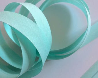 Folded 2 Minty green blue cm cotton bias