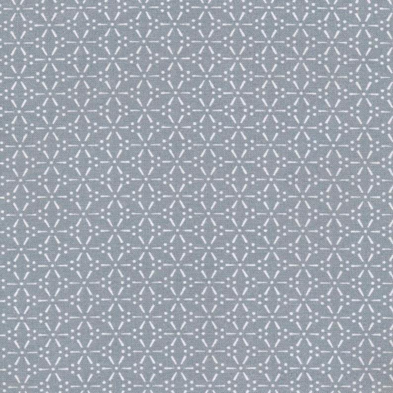 8caa45f329 Toile cirée en tissu coton enduit gris-bleuté avec motif | Etsy