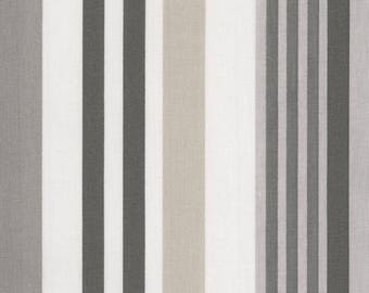 Waxed canvas stripes vertical gray taupe and grey antracithe
