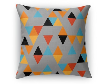 Colorful Traingles Throw Pillow