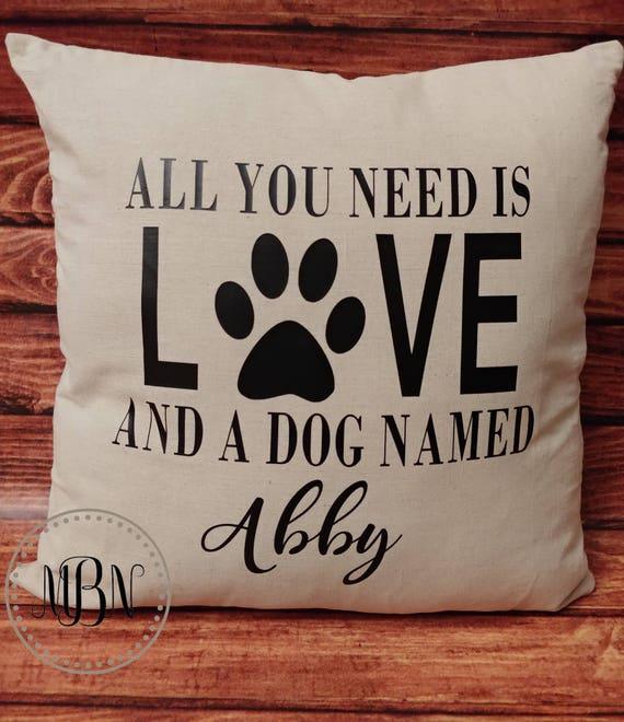 Fur Baby Pet Mom Decor Dog Lover Pillow Cat Love Doggie Etsy