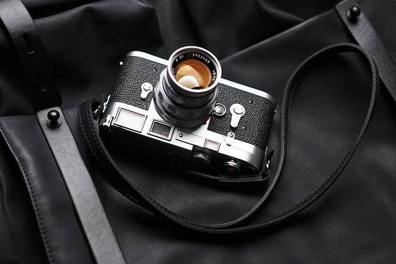 Tête de caméra à la main Double face véritable peau de vache en cuir Slim MS édition cou lanière poignet Leica Nikon Sony Fujifilm panasonic reflex numérique Canon