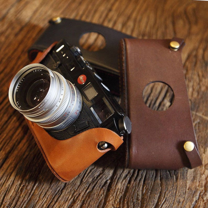 Leica M2 M3 M4 M4P M6 M7 M7P MP Handmade Italian Cowhide leather Half Case  insert Camera bag Protector 10 Colors available Made TO Order