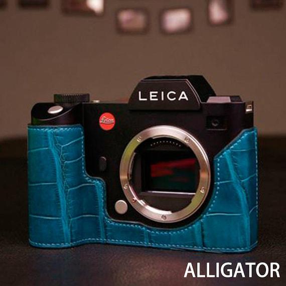 Estuche De Cuero Genuino media para Leica SL Typ601 Nuevo