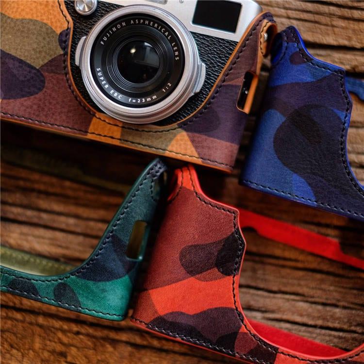 Fuji X100f: Fujifilm Fuji X100F Handmade Half Case Camouflage Italian