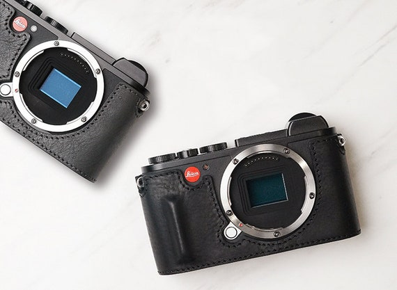 Leather Protective Half Case for Leica CL Camera Retro Bottom Cover Handmade New