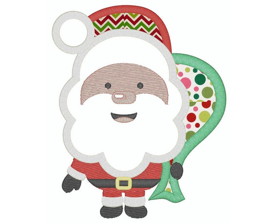51cfd916d4b71 Santa Claus Embroidery design Christmas applique embroidery